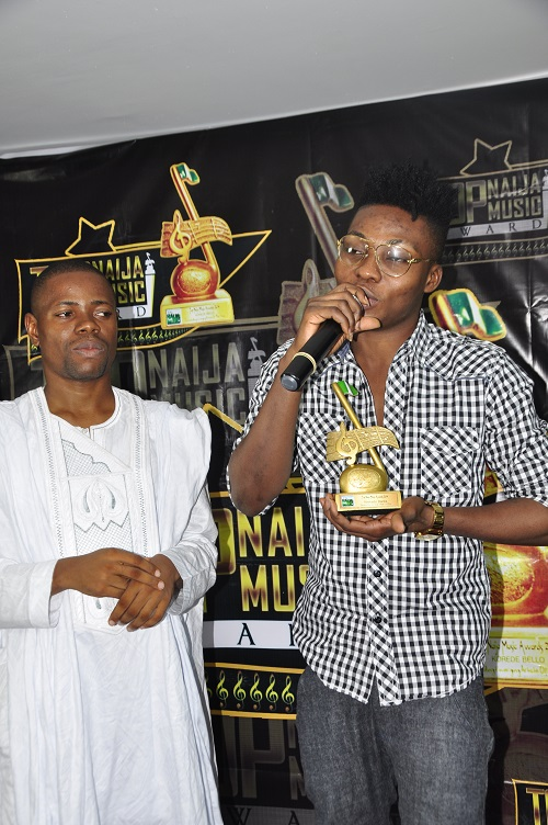 Reekadobanks giving his acceptance speech as he won the REVELATION OF THE YR 2014 AWARD