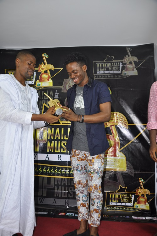 Outstanding Emerging Act of The Year 2014, Korede Bello receiving his award